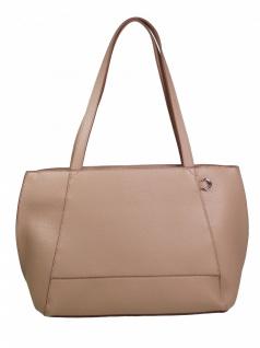 Esprit Damen Handtasche Tasche Henkeltasche Fran Shopper Beige