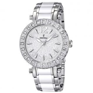 FESTINA F16643/3 KERAMIK Uhr Damenuhr kratzfestes Keramik weiß