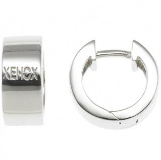 XENOX XS8545 Damen Creolen Modern Classic Silber