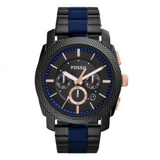 Fossil MACHINE Chronograph Uhr Herrenuhr schwarz rosé blau FS5164