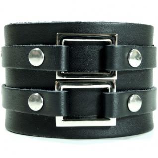 CJBB1912 Herren Armband Leder schwarz 21, 5 cm