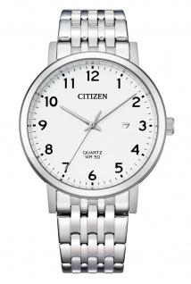 Citizen BI5070-57A Uhr Herrenuhr Edelstahl Datum silber