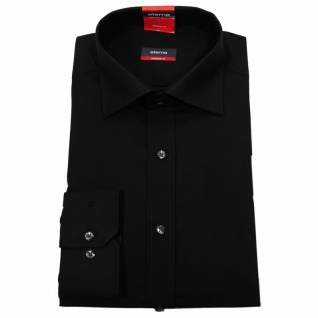 Eterna Herrenhemd 1100/39/X177 Modern Fit Schwarz Gr. XL/43