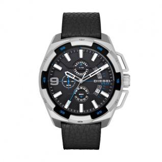 Diesel HEAVYWEIGHT Chronograph Uhr Herrenuhr Lederarmband schwarz
