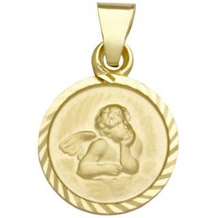 Basic Gold EN07 Kinder Anhänger Schutzengel 14 Karat (585) Gelbgold