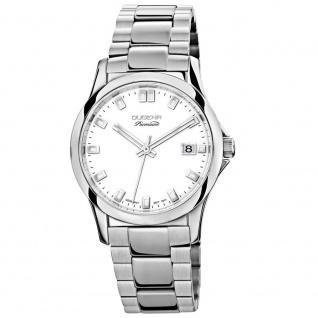 DUGENA 7000100 Premium Uhr Damenuhr Edelstahl Datum weiss