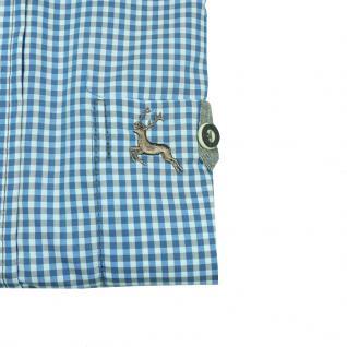 Eterna Herrenhemd Langarm Comfort Fit Blau Weiß kariert Gr. XL/44 - Vorschau 2