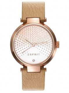 Esprit ES109032010 Uhr Damenuhr Lederarmband Braun
