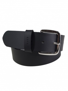 Esprit Damen Gürtel Jeansgürtel New basic belt Leder 85cm Schwarz