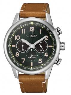 Citizen CA4420-21X Uhr Herrenuhr Lederarmband Chrono Datum Braun