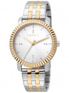 Esprit ES1L185M0085 Menlo Silver Gold Uhr Damenuhr bicolor