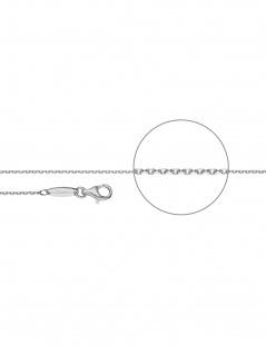 Der Kettenmacher A3-50S Anker Kette Silber 50 cm