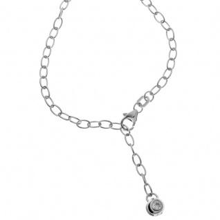 Basic Silber SFK01 Damen Fußkettchen Silber Zirkonia Weiß 25 cm