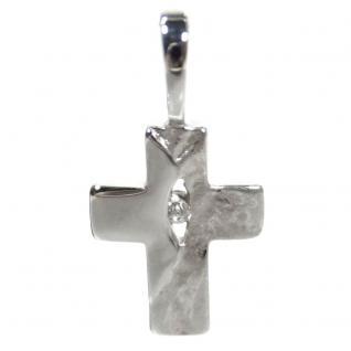 Basic Silber SKE58 Kinder Anhänger Kreuz Silber Zirkonia