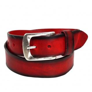 Bernd Götz Damen Gürtel 402187-0055 Walkleder Rot Leder Gürtel 95 cm