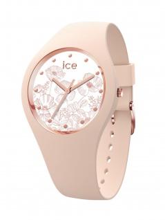 Ice-Watch 016670 ICE flower Spring nude M Uhr Damenuhr Kautschuk Rosa