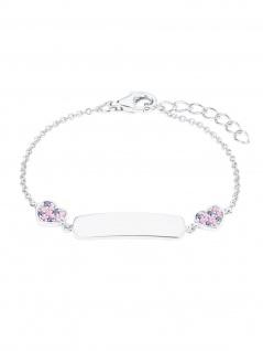 Prinzessin Lillifee 2027208 Mädchen Armband Silber Rosa 14 cm