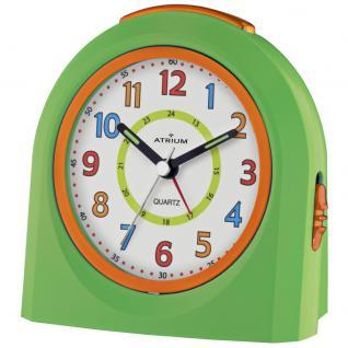 ATRIUM A921-3 Wecker Alarm Analog grün orange