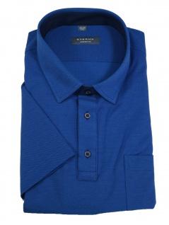 Eterna Herren Polo Shirt Kurzarm Comfort Fit Piqué Blau XXL/46