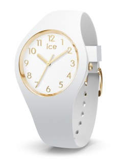 Ice-Watch 015339 ICE glam colour white gold numbers small 3H Uhr Weiß