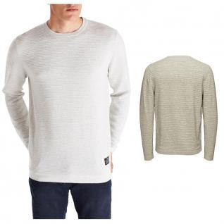 Jack & Jones Herren Pullover Pulli RAIN Knit Crew Neck Weiß Gr. XL
