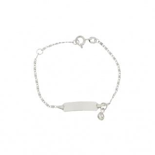 Basic Silber SAB24 Mädchen Armband Silber weiß 14 cm