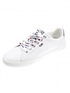 Tommy Hilfiger Damen Schuhe Tommy Jeans Casual Sneaker Weiß