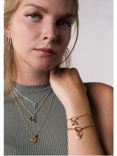 Xenox Choice Xc1056g/70 Damen Kette Sterling-silber 925 Gold 70 Cm - Vorschau 2
