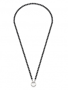 Leonardo 016710 Damen Kette Chicco Darlin's Silber Schwarz 80 cm