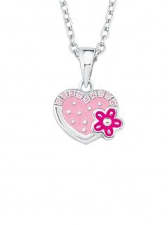 Prinzessin Lillifee 2021045 Mädchen Collier Herz Silber Rosa 38 cm