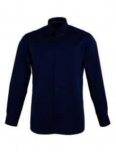 Eterna Herren Hemd Langarm Modern Fit 3072/19/X19P Blau XL/43