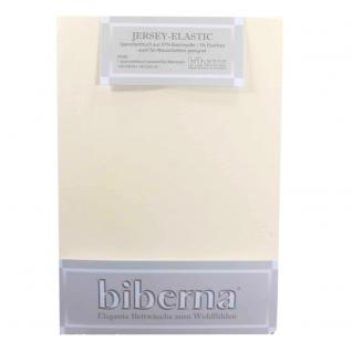 Biberna 77866-555 Jersey Elastic Spannbetttuch Creme 180x200 200x220