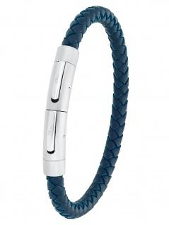 s.Oliver 2031554 Herren Armband Edelstahl Silber blau 22 cm