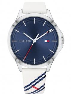 Tommy Hilfiger 1782089 PEYTON Uhr Damenuhr Lederarmband Weiß