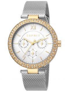 Esprit ES1L189M0105 Betty Silver Gold TT Uhr Damenuhr Datum silber