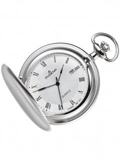 Dugena 4288041-1 Taschenuhr Savonette mit Kette Uhr Herrenuhr Datum