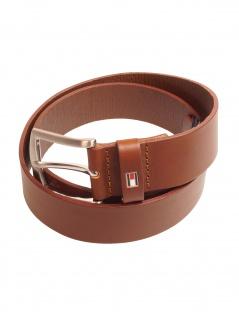 Tommy Hilfiger Herren Gürtel New Denton 3.5 Belt Leder 100cm Braun