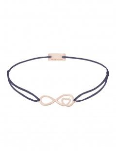 MOMENTOSS 21203876 Armband Filo Infinity-Herz Rose grau-lila 25 cm