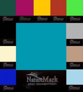 Jersey Spannbettlaken 120 x 200 bis 130 x 200 cm alle Farben