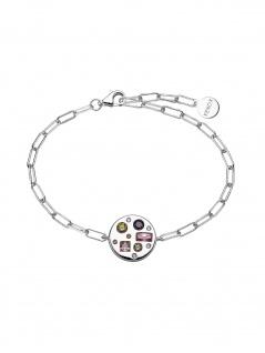 XENOX XS1987 Damen Armband Silber 925 Silber bunt 18, 5 cm