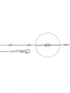 Der Kettenmacher A4-60S Anker Ovaline Kette Silber 60 cm
