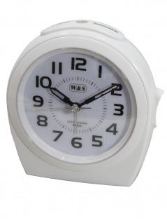 W&S 201812-weiß Wecker leise Sekunde Uhr Alarm Weiss
