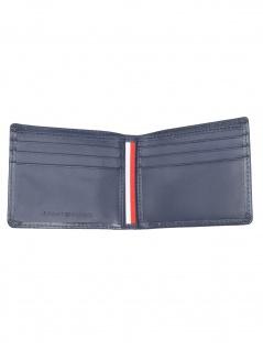 Tommy Hilfiger Herren Geldbörse Stitched Leather Mini CC Leder Blau - Vorschau 2