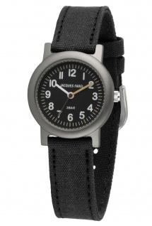 JACQUES FAREL ORG0305 Ökokinderuhr Uhr Junge Kinderuhr Textil schwarz