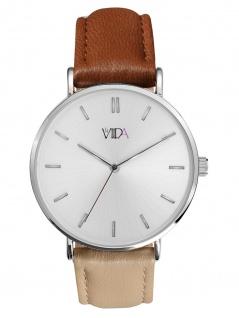 laVIIDA WVI2025S Vienna Uhr Damenuhr Lederarmband Beige