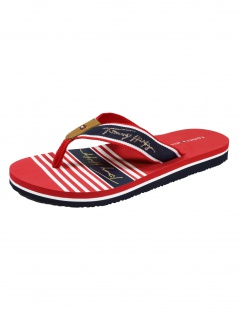 Tommy Hilfiger Tommy Signature Beach Sandal Rot Zehentreter