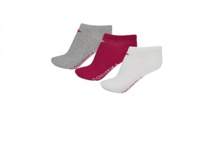 Converse Socken Low Cut 3er Pack Füßlinge 39-42 Mehrfarbig E751K-3012 - Vorschau