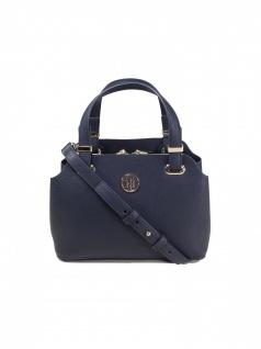Tommy Hilfiger Damen Handtasche Tasche TH Core Med Satchel Blau