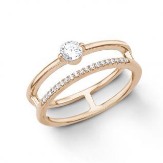 s.Oliver 2012620 Damen Ring Sterling-Silber 925 Rose Weiß 54 (17.2)