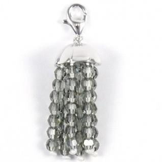 Esprit ESZZ90634.B Charms Damen Charm Silber Pompom XL mit facettierten Perlen hellgrau